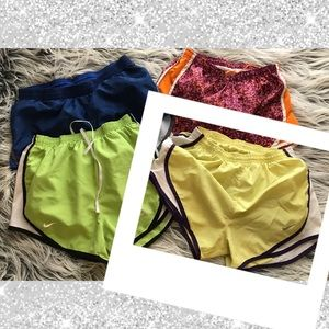 NIKE DRI-FIT RUNNING SHORTS YELLOW